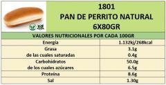 PAN DE PERRITO NATURAL 6X80GR