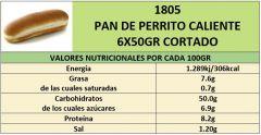 PAN PERRITO CALIENTE 6X50GR CORTADO