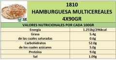 HAMBURGUESA MULTICEREALES 4X90GR