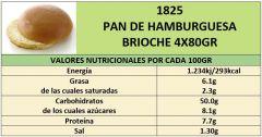 PAN DE HAMBURGUESA BRIOCHE 4X80GR