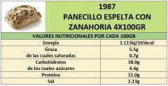 PANECILLO ESPELTA CON ZANAHORIA 4X100GR