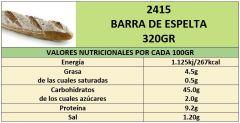 BARRA DE ESPELTA 320GR