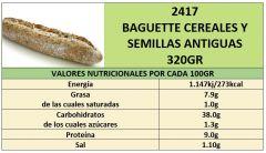 BAGUETTE CEREALES Y SEMILLAS ANTIGUAS 320GR