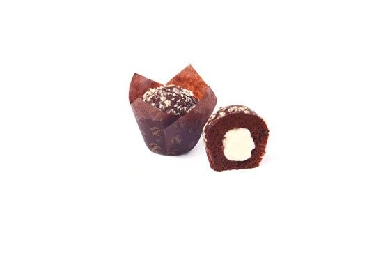 MUFFIN CHOCOLATE RELLENO CHOCOLATE BLANCO 4X90GR