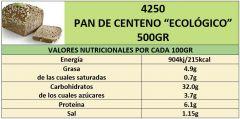 PAN BIO ESPELTA-CENTENO Y COPOS DE AVENA 500GR