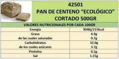 PAN BIO ESPELTA-CENTENO Y COPOS AVENA 500GRCORTADO