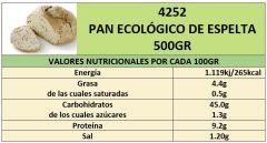 PAN ECOLÓGICO DE ESPELTA 500GR