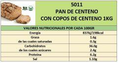 PAN DE CENTENO CON COPOS DE CENTENO 1000GR