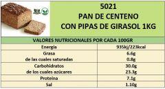 PAN DE CENTENO CON PIPAS DE GIRASOL 1.000G