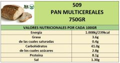 PAN MULTICEREALES 750GR
