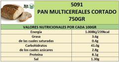 PAN MULTICEREALES 750GR CORTADO