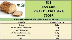 PAN CON PIPAS DE CALABAZA 750GR