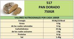 PAN DORADO 750GR