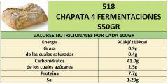 CHAPATA 4 FERMENTACIONES 550GR