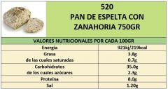 PAN ESPELTA CON ZANAHORIA 500GR