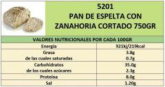 PAN ESPELTA CON ZANAHORIA 500GR CORTADO