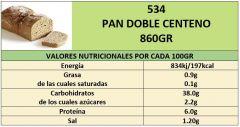 PAN DOBLE CENTENO 800GR