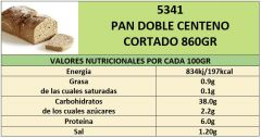 PAN DOBLE CENTENO 800GR CORTADO