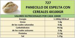 PANECILLO DE ESPELTA CON CEREALES   4X100gr