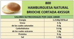 HAMBURGESA NATURAL 4X55GR CORTADA