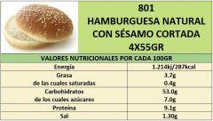 HAMBURGESA NATURAL CON SESAMO 4X55GR CORTADA